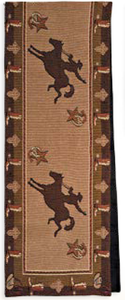 "(RK12027) ""Cowboy"" Western Jacquard Table Runner 13"" x 72"""