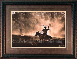 "(RMP-BH016) ""Lost Canyon Roundup"" Western Framed & Matted Print"