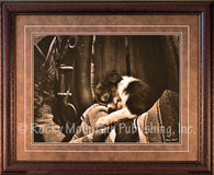 "(RMP-BH020) ""Day Dreamer"" Western Framed & Matted Print"