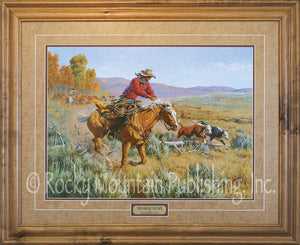 "(RMP-CP036) ""The Great Escape"" Western Framed & Matted Print (24"" x 30"")"
