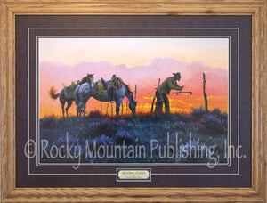 "(RMP-CP037) ""Mending Fences"" Framed & Matted Print (22"" x 30"")"