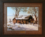 "(RMP-CP038-043) ""Eviction Day"" Western Framed & Matted Print"