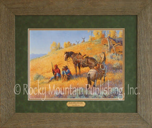 "(RMP-CP044) ""Glad I Hired This Guide"" Western Framed & Matted Print (16"" x 20"")"
