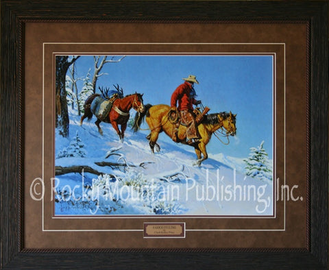 "(RMP-CP056-058) ""A Good Feeling"" Western Framed & Matted Print"