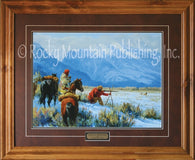 "(RMP-CP057-059) ""Dead Eye or Hungry"" Western Framed & Matted Print"