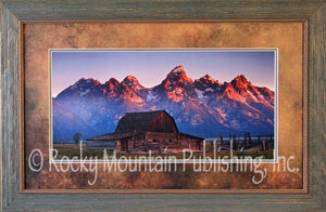 "(RMP-DB002) ""Coming Sun"" Western Framed & Matted Print"