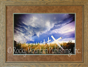 "(RMP-DB004) ""Heaven's Fury"" Western Framed & Matted Print"