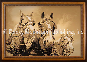 "(RMP-DB2037E) ""The A Team"" Western Framed & Matted Print"