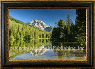 "(RMP-MT2020) ""Morning Reflections"" Western Framed Canvas Print"