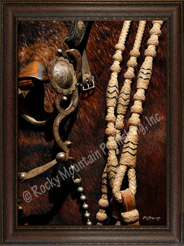 "(RMP-MT2036) ""Bridle & Reins"" Western Framed & Matted Art Print"