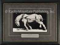 "(RMP-RT001) ""Put in One More Mile"" Western Framed & Matted Print"