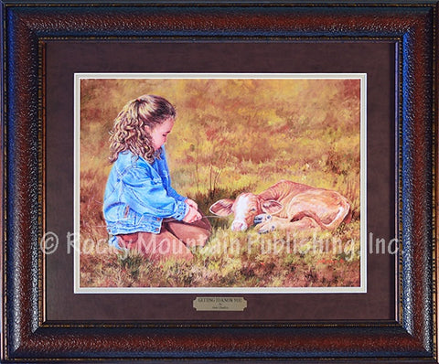 "(RMP-SS31) ""Getting to Know You"" Western Framed & Matted Art Print"