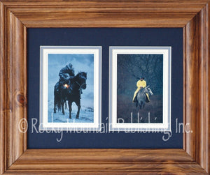 "(RMP-ST005C) ""Winter Save"" Western Framed & Matted 2-Piece Print (11"" x 14"")"