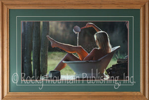 "(RMP-ST024) ""Cowboy's Dream"" Framed & Matted Western Art Print"