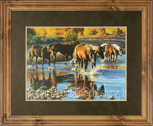 "(RMP-TC015A) ""Coming in at Sundown"" Western Print by Tim Cox"