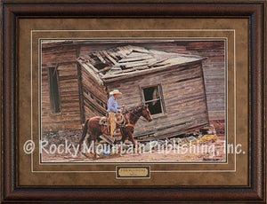 "(RMP-TC114) ""If These Walls Could Talk"" Western Framed Print by Tim Cox"