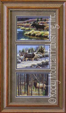"(RMP-TRPCF02) ""Big Game"" Western Triple Print by Cynthie Fisher"