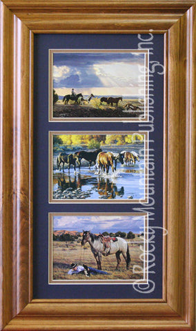 "(RMP-TRPTC04) ""Cowboy Haven"" Triple Print by Tim Cox"
