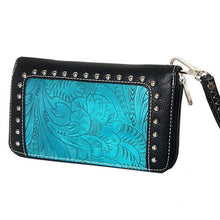 Load image into Gallery viewer, (RWBA2804-A2) Ladies' Western Turquoise Wallet