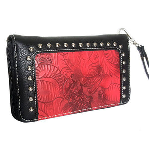 (RWBA2804-A3) Ladies' Western Red Wallet
