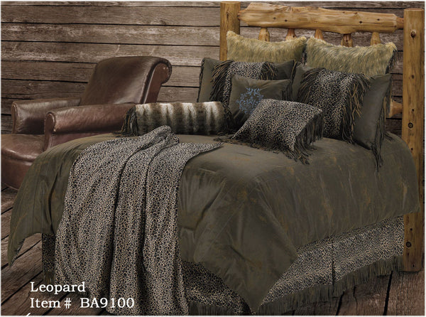 "(RWBA9100-ST) ""Leopard"" Western 4-Piece Bedding Set - Super Twin"