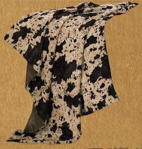 "(RWBA9103-TH) ""El Dorado"" Western Cowhide Print Throw"