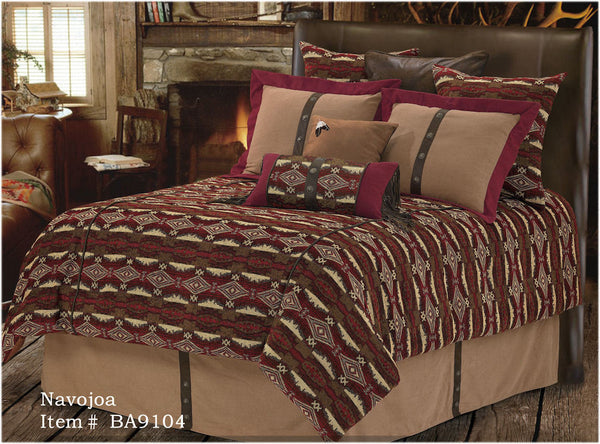 "(RWBA9104-SQ) ""Navajoa"" Western 5-Piece Bedding Set - Super Queen"