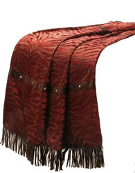 "(RWBA9107TH) ""Red Zebra"" Western Throw"