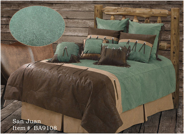 "(RWBA9108-SQ) ""San Juan"" Western 5-Piece Bedding Set - Super Queen"