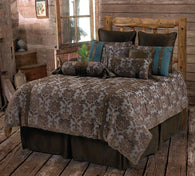 "(RWBA9187-SK) ""Fleur De Lis"" Western 5-Piece Bedding Set - Super King"