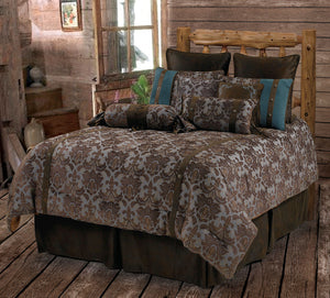 "(RWBA9187-SQ) ""Fleur De Lis"" Western 5-Piece Bedding Set - Super Queen"