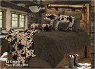 "(RWBA9103-SQ) ""El Dorado"" Western 5-Piece Bedding Set - Super Queen"