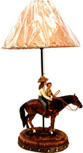 Load image into Gallery viewer, (RWRA1368) Cowgirl & Brother Western Table Lamp