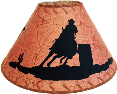 Barrel racer western lamp shade 15 x 8 wild west living rwra3821 barrel racer western lamp shade aloadofball Image collections