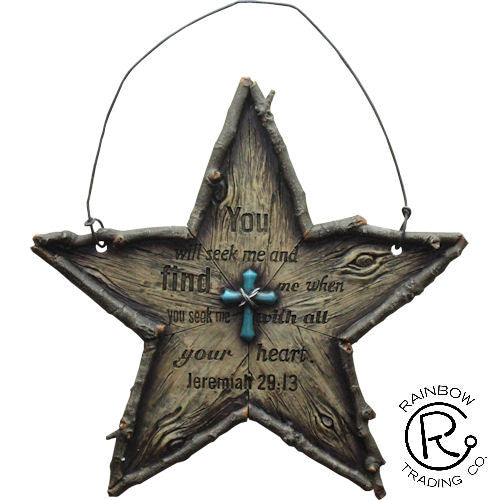 (RWRA6344) Western Star Bible Verse Plaque