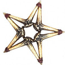 (RWRA6726) Antler Star Wall Plaque