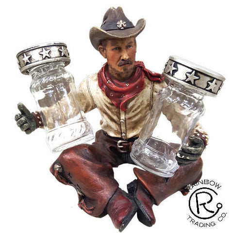 (RWRA6992) Western Cowboy Salt & Pepper Shaker Set