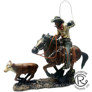 """Calf Roper"" Western Sculpture"