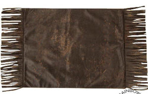 (RWBA9096PM)  Western Chocolate Placemats - 4-Piece Set