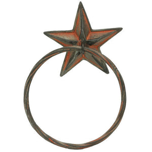 (RWRT5068) Western Star Towel Ring