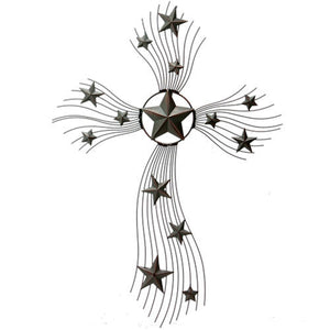 Western Thin Metal Multi-Star Wall Cross