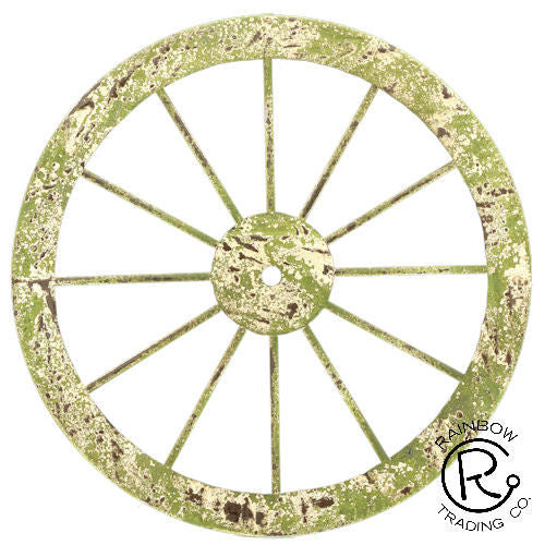 Western metal wagon wheel wall decor wild west living for Product key decor8