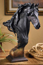 Load image into Gallery viewer, Fresian Horse Bust Sculpture - Small