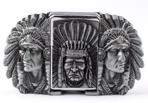 Chief Belt Buckle and Lighter Combo