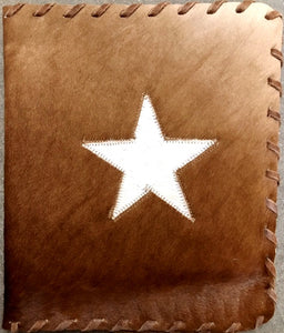 Genuine Cowhide Bible Cover with Star