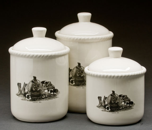 """Stockman's Gear"" 3-Piece Canister Set"