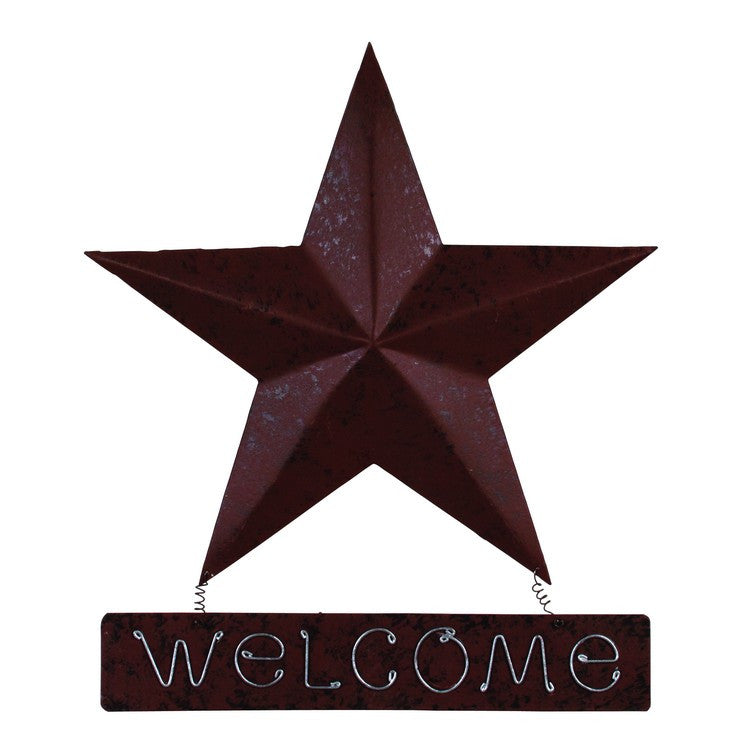 Western Barn Star Metal Welcome Sign