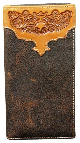 (TD1473137W3) Hooey Signature Brown Rodeo Wallet with Tooling