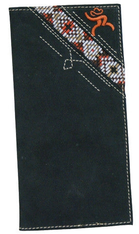 (TD1533137W3) Hooey Roughy Signature Black & Aztec Rodeo Wallet