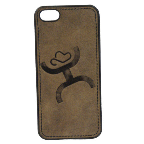 (TD1547479C2) Hooey Signature Brown Branded iPhone 5 Snap-On Case